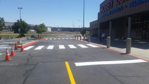 Pavement marking & stripping completed in Kennewick, WA